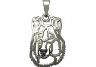Kolie krátkosrstá přívěšek na krk stříbrný