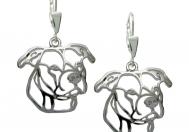 Americký pitbull teriér II. náušnice stříbrné