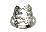 Malý kontinentální Španěl - Papillon prsten rhodiované stříbro - 55